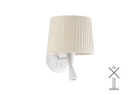 MAMBO White wall lamp with LED reader