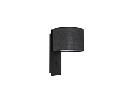 FOLD Black wall lamp