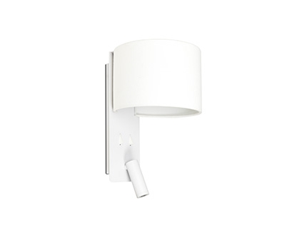 FOLD White wall lamp with LED reader