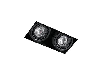 NANO-COLIN-2 Black downlight LED 14/24W 2700K 20° 1700/2720 lm without frame