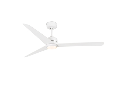 NU LED White ceiling fan with DC motor