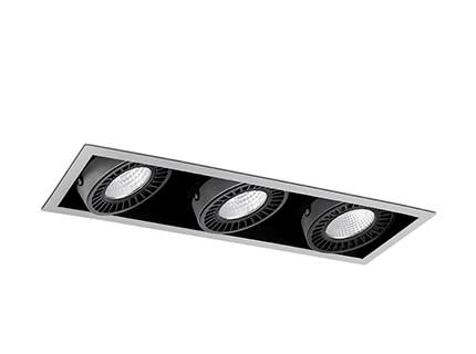 COLIN-3 Grey downlight LED 54/75W 2700K 20° 6300/8325 lm