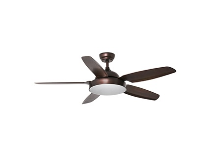 LEYTE LED Brown ceiling fan with DC motor
